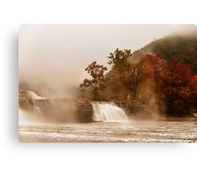 When the Morning Dawns on Kanawha Falls Canvas Print