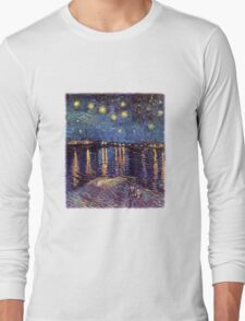 Starry Night over the Rhone, Vincent van Gogh. Long Sleeve T-Shirt