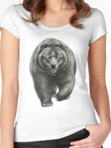 Brown Bear sk068 schukina Women's Fitted Scoop T-Shirt
