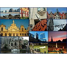 Collage from Belgium 3 - Travel Photography Photographic Print