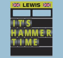 Lewis Hamilton - It's hammer time pit board message - no hands by ApexFibers