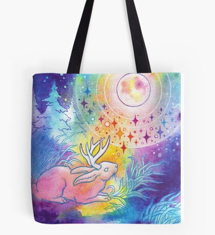 Jackalope of the Night Tote Bag