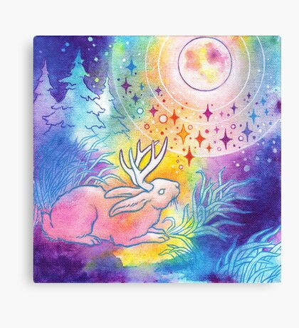 Jackalope of the Night Canvas Print