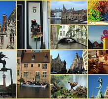 Collage from Belgium 4 - Travel Photography by JuliaRokicka