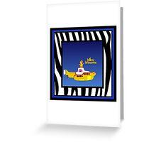 PETER MAX YELLOW SUBMARINE Greeting Card