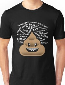 Poop by Any Other Name Funny Emoji Shirt Emoticon Poo Unisex T-Shirt