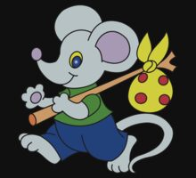 little mouse traveler with a swag One Piece - Short Sleeve