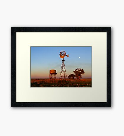 Evening Glow - Narrandera Framed Print