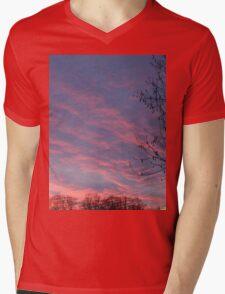 lava sky Mens V-Neck T-Shirt