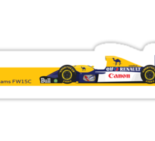 1993 Williams FW15C Formula 1 race car piloted by Alain Prost and Damon Hill Sticker