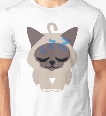 Birman Cat Emoji Sleepy and ZZZ Face Unisex T-Shirt