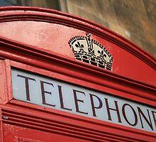 Red Telephone Box by Sue Leonard