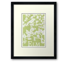 Green Elm Paper Cutting Framed Print