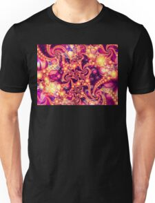 Falling Within (warm) - Psychedelic Fractal Abstract Unisex T-Shirt