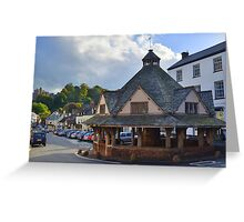 Exmoor: Dunster Yarn Market Greeting Card