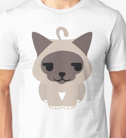 Birman Cat Emoji Shy and Secretly Happy Face Unisex T-Shirt