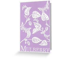 Purple Mulberry Paper Cutting Greeting Card