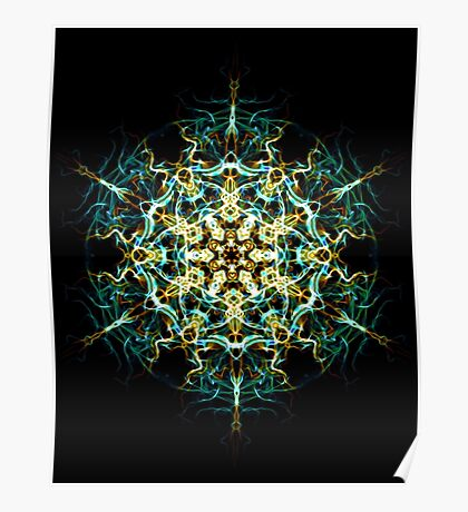 Lucid Interconnection -  Sacred Geometry Energy Mandala. Poster