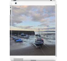 Exmoor: Low Tide at Minehead Harbour iPad Case/Skin