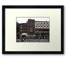 Broadgate, Coventry, Woodcut Framed Print