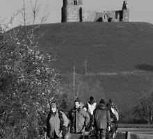 Flooding Somerset - Burrowbridge - Team Work - 2014 by RedSteve