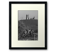 Flooding Somerset - Burrowbridge - Team Work - 2014 Framed Print