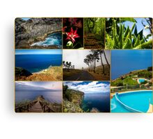 Collage from Portugal (Madeira) - Travel Photography Canvas Print