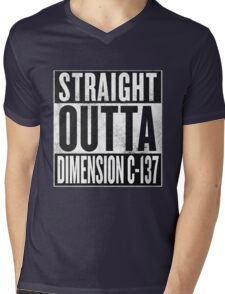 Rick and Morty - Straight Outta Dimension C-137 Mens V-Neck T-Shirt