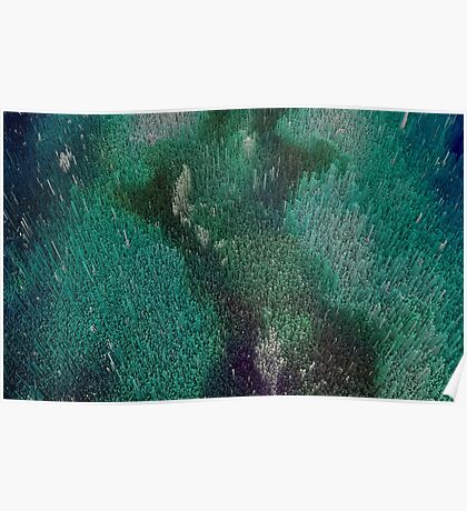 Space Blue Nebula Poster