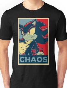 Shadow the Hedgehog (Obama Hope Poster Parody) [2-D Shadow] Unisex T-Shirt