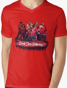Don't Stop Believing || Glee Mens V-Neck T-Shirt