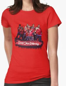 Don't Stop Believing || Glee Womens Fitted T-Shirt
