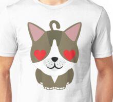 American Short Hair Emoji Heart and Love Eyes Unisex T-Shirt