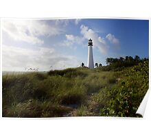 Lighthouse on the Dunes Poster