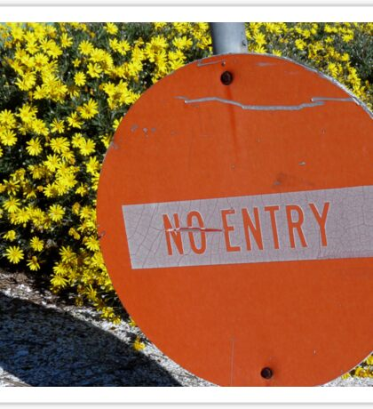 Entry/No Entry Sticker