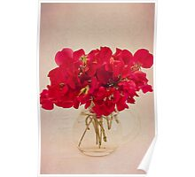 Red Sweet Pea Bouquet Poster