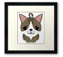 American Short Hair Cat Emoji Pretty Please Face Framed Print