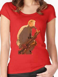 Sax player Women's Fitted Scoop T-Shirt