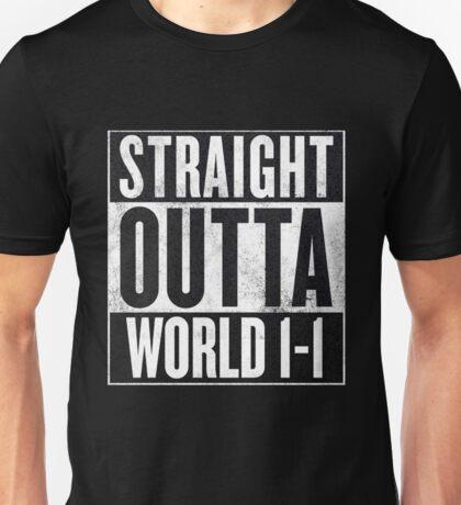 Super Mario - Straight Outta World 1-1 Unisex T-Shirt