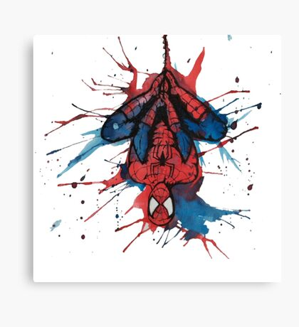Spider-Man Homecoming Watercolor Canvas Print
