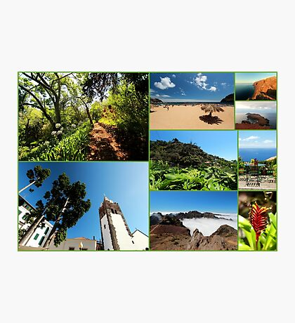 Collage from Portugal (Madeira) 3 - Travel Photography Photographic Print
