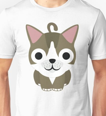 American Short Hair Cat Emoji Happy and Eager Look Unisex T-Shirt