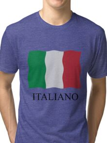 Italiano flag Tri-blend T-Shirt