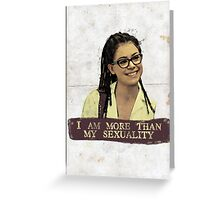 I am more than my sexuality || Cosima Greeting Card