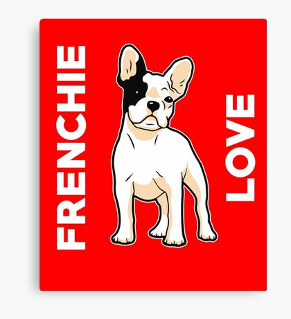 Frenchie Love Cute French Bulldog  Canvas Print
