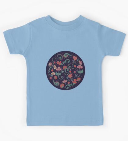 Ethnic indian floral ornament Kids Tee