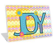 Joy with colorful caterpillars Laptop Skin