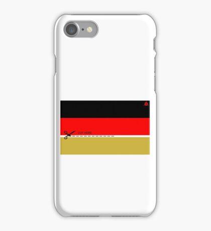 Schwarz - Rot - CUT HERE - Gold iPhone Case/Skin