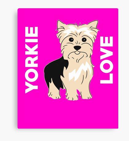 Yorkie Love Cute  Canvas Print