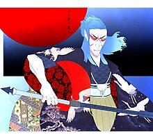 Kabuki Samurai Saïx Print Photographic Print